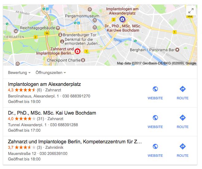 Google My Business Optimierung Berlin – Implantate Berlin